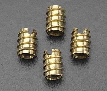 Great Planes 1/4-20 Brass Threaded Inserts (4 pkg)-0