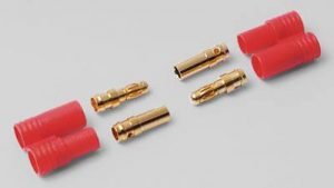 HYPERION LIFEPO CONNECTORS - 2X 3.5 MM GOLD WITH INSULATORS-0