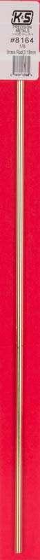K&S 1/8 X 12 Round Brass Rod-0