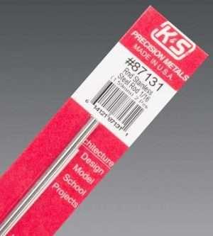 K&S Round Stainless Rod 1/16 X 12-0