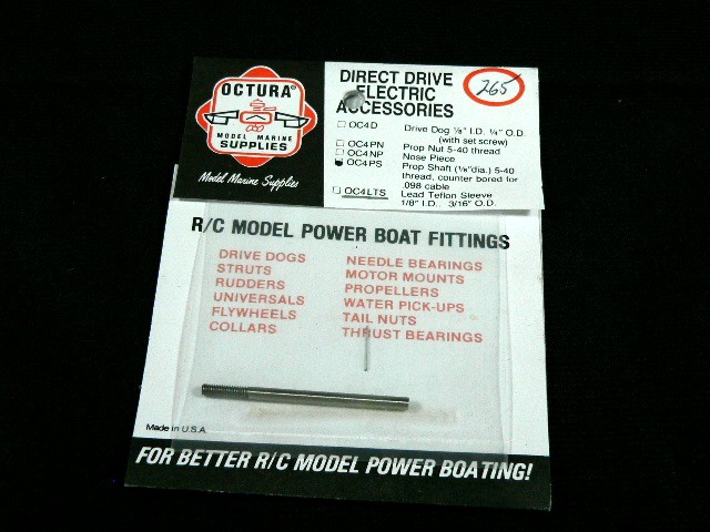 Octura Prop Shaft 1/8 in. OD Stainless Steel Stub Shaft-0