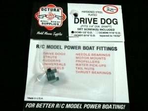 Octura Drive Dog - 1/4 in. Bore x 1/2 in. OD-0