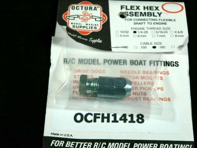 Octura Flex Coupling 1/4-28 x .187-0
