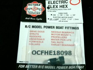 Octura Flex Coupling for Electric Motor .125 x .098 with One set screw-0