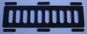 RCR Carbon Fiber Battery Tray - 140x55 mm-0
