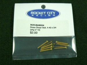 RCR Brass Shear Bolt - 4-40 x 3/4 (pkg 25)-0