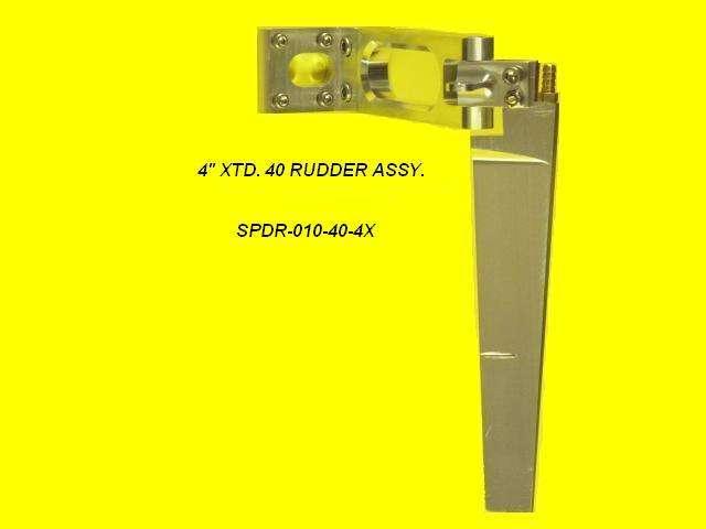 Speedmaster 40 Rudder Assembly 4 in. XTD-0