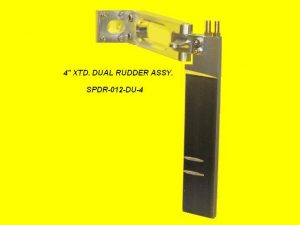 Speedmaster 4in. Extended Dual Pickup Rudder with Straight Blade-0