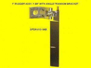 Speedmaster 1 in. Rudder Assembly - Medium Bracket 1-5/8 in.-0