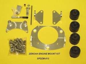 Speedmaster Zenoah Motor Mount W/Thrt & C/Rel-0